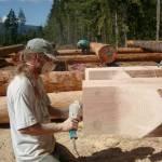 sanding log